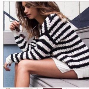 Free People striped chunky sweater small
